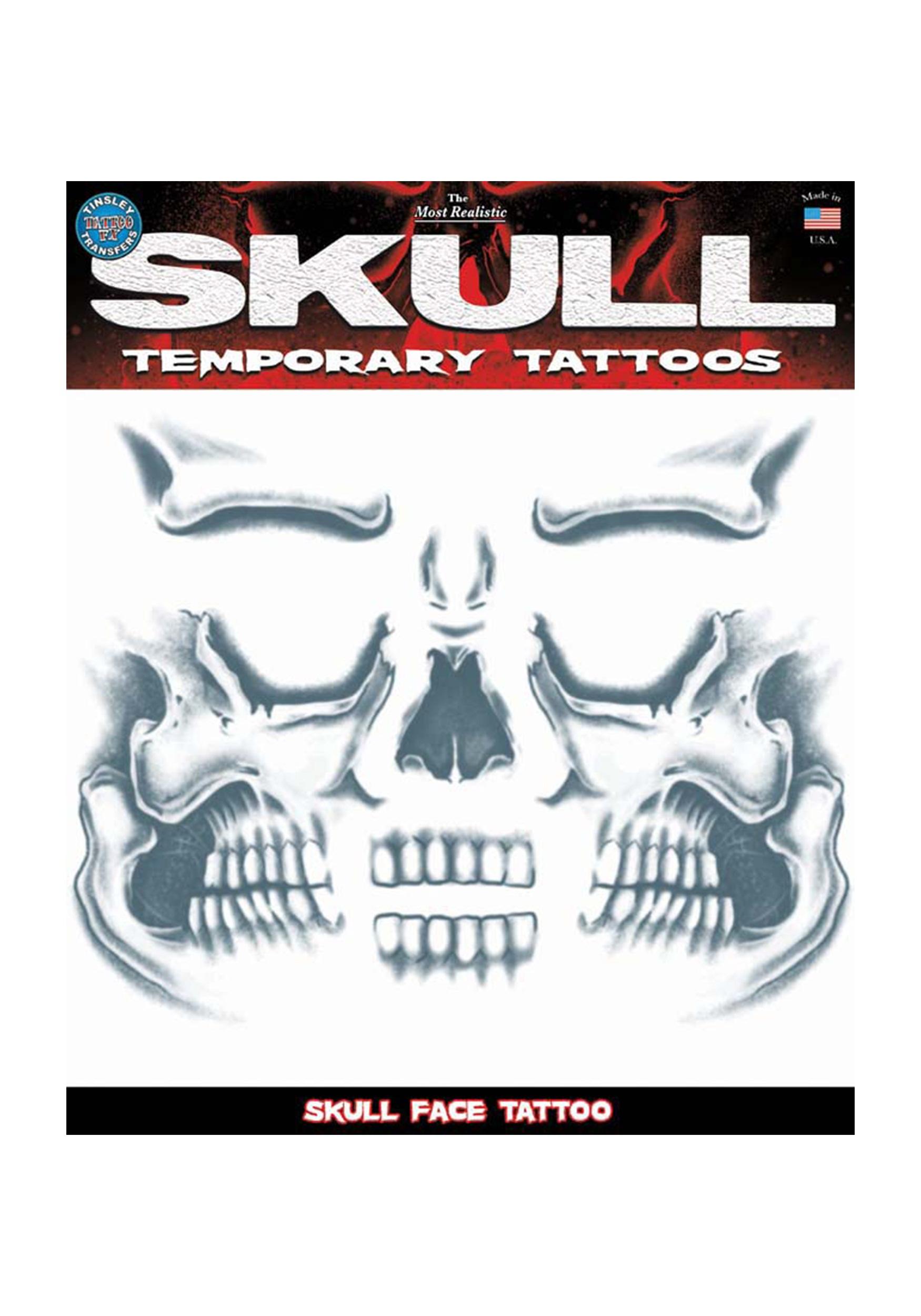 Skull Henna Tattoo: Skull Face Temporary Tattoo