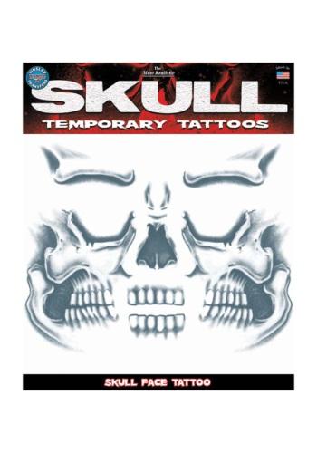 Skull Face Temporary Tattoo