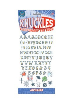 Knuckle Alphabet Temporary Tattoos