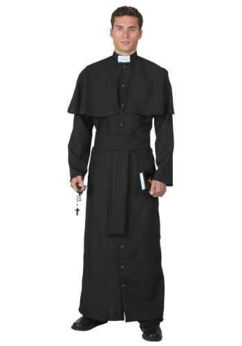 Click Here to buy Deluxe Priest Costume | Religious Adult Costumes from HalloweenCostumes, CDN Funds & Shipping