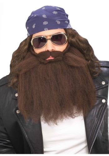 Brown Biker Wig