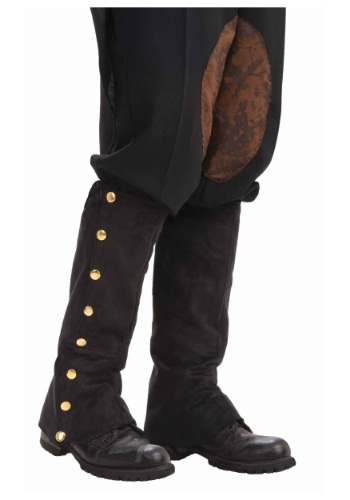 Click Here to buy Steampunk Black Suede Spats from HalloweenCostumes, CDN Funds & Shipping