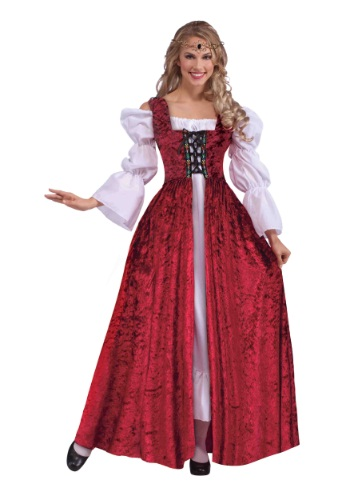 Click Here to buy Plus Size Womens Medieval Laced Gown Costume | Medieval Princess Costumes from HalloweenCostumes, CDN Funds & Shipping