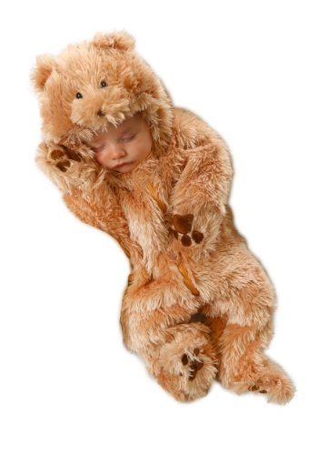 Click Here to buy Cuddly Bear Baby Costume from HalloweenCostumes, CDN Funds & Shipping