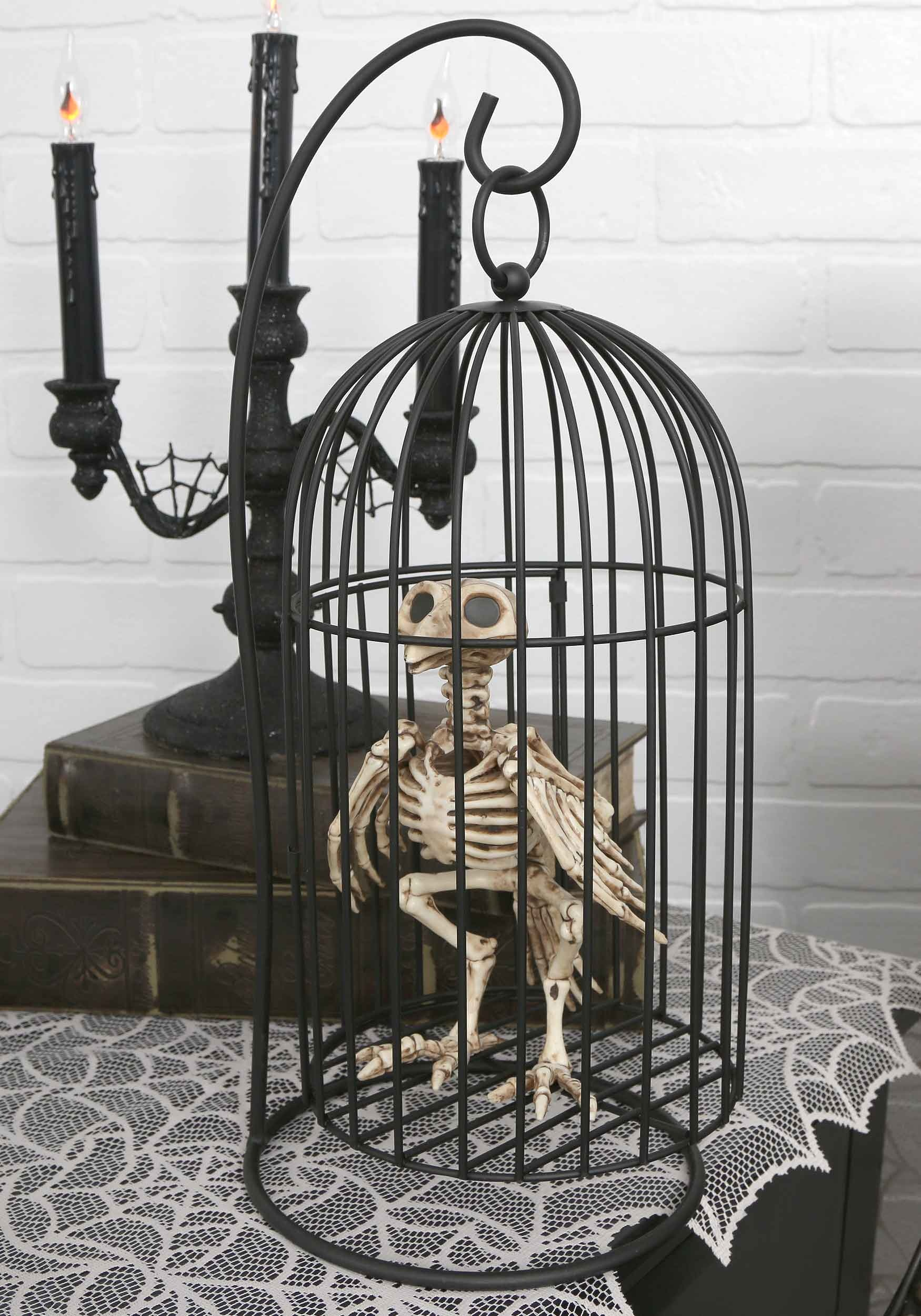 INOpets.com Anything for Pets Parents & Their Pets Skeleton Bird in Cage