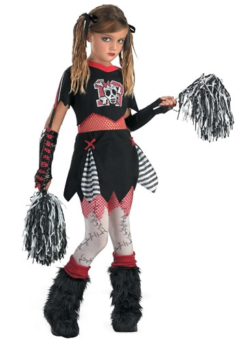 Click Here to buy Kids Gothic Cheerleader Costume | Girls Cheerleader Costume from HalloweenCostumes, CDN Funds & Shipping