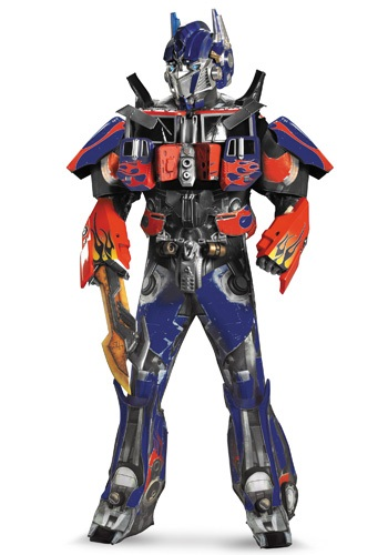 Click Here to buy Adult Authentic Optimus Prime Costume w/ Vacuform from HalloweenCostumes, CDN Funds & Shipping