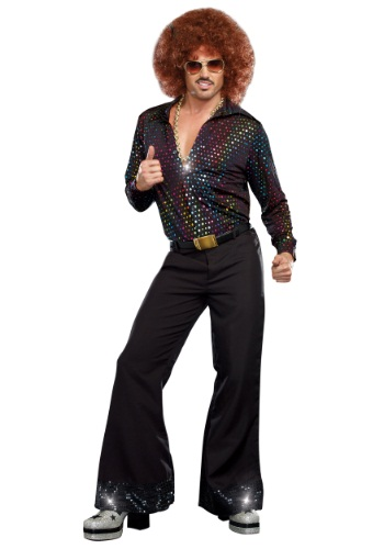 Disco Dude Shirt Plus Size Costume