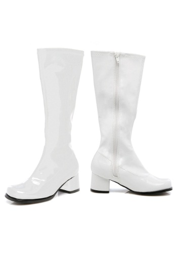 Click Here to buy Toddler White Gogo Boots from HalloweenCostumes, CDN Funds & Shipping
