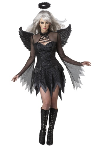 Click Here to buy Plus Size Womens Sultry Fallen Angel Costume | Religious Costumes from HalloweenCostumes, CDN Funds & Shipping