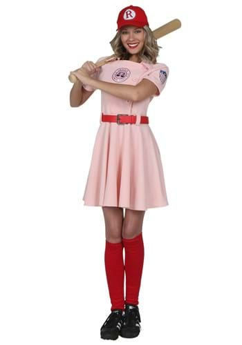 Click Here to buy A League of Their Own Deluxe Dottie Costume from HalloweenCostumes, CDN Funds & Shipping
