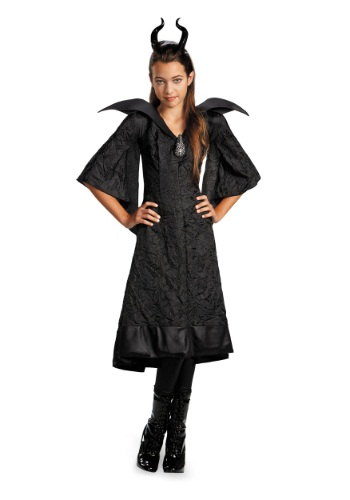Click Here to buy Girls Classic Maleficent Christening Costume Gown from HalloweenCostumes, CDN Funds & Shipping