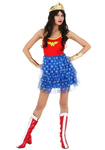 Click Here to buy Wonder Woman Mini Skirt Dress from HalloweenCostumes, CDN Funds & Shipping
