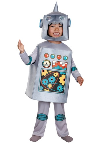 Click Here to buy Toddler and Kids Retro Robot Costume from HalloweenCostumes, CDN Funds & Shipping