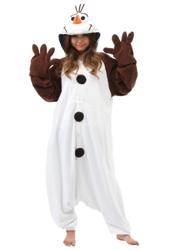 Click Here to buy Adult Olaf Pajama Costume from HalloweenCostumes, CDN Funds & Shipping