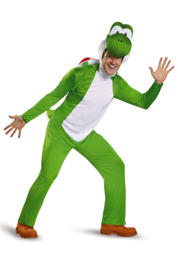 Click Here to buy Deluxe Adult Yoshi Costume from HalloweenCostumes, CDN Funds & Shipping