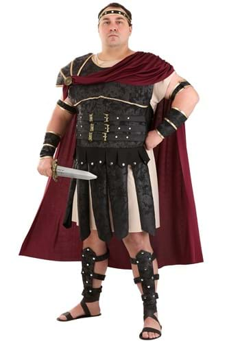 Click Here to buy Plus Size Roman Gladiator Costume from HalloweenCostumes, CDN Funds & Shipping