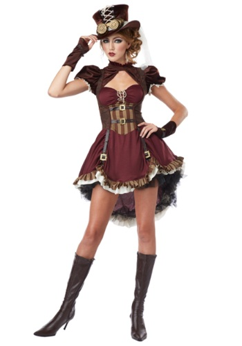 Click Here to buy Plus Size Steampunk Lady Costume from HalloweenCostumes, CDN Funds & Shipping