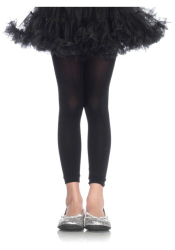 Click Here to buy Girls Black Footless Tights from HalloweenCostumes, CDN Funds & Shipping