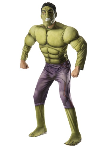 Click Here to buy Adult Deluxe Hulk Avengers 2 Costume from HalloweenCostumes, CDN Funds & Shipping