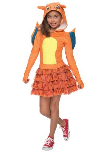 Click Here to buy Girls Pokemon Charizard Costume from HalloweenCostumes, CDN Funds & Shipping