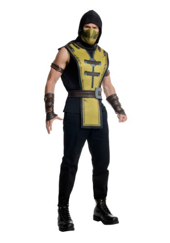 Click Here to buy Mortal Kombat X Adult Scorpion Costume from HalloweenCostumes, CDN Funds & Shipping