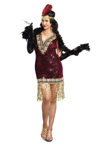 Plus Size Sophisticated Lady Flapper Dress Costume