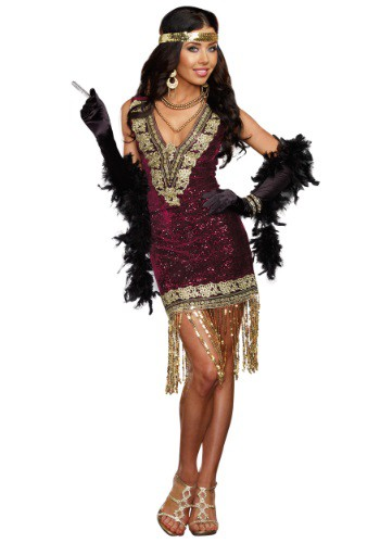 Click Here to buy Sophisticated Lady Flapper Costume from HalloweenCostumes, CDN Funds & Shipping