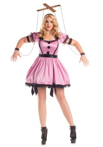 Click Here to buy Womens Plus Size Pink Marionette Costume from HalloweenCostumes, CDN Funds & Shipping