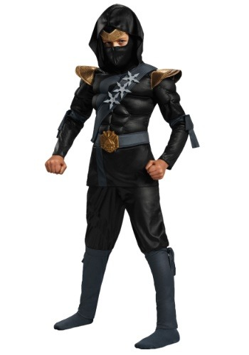 Click Here to buy Boys Black Ninja Classic Muscle Costume from HalloweenCostumes, CDN Funds & Shipping