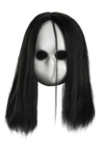 Adult Blank Black Eyes Doll Mask