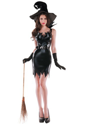 Click Here to buy Womens Liquid Black Witch Costume from HalloweenCostumes, CDN Funds & Shipping