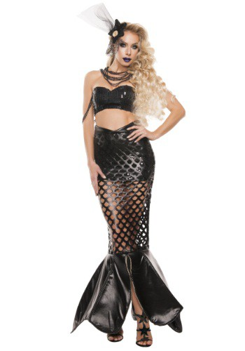 Click Here to buy Womens Sexy Noir Mermaid Costume from HalloweenCostumes, CDN Funds & Shipping