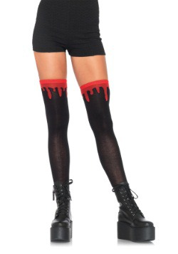Dripping Blood over the Knee Socks