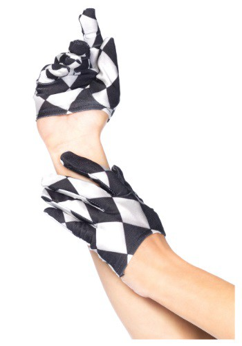 Click Here to buy Harlequin Mini Cropped Gloves from HalloweenCostumes, CDN Funds