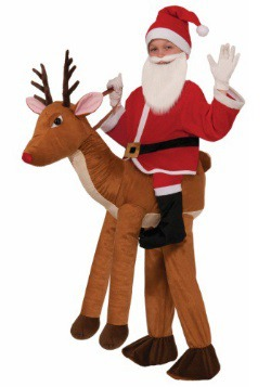 Child Ride A Reindeer Costume