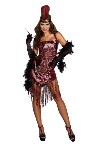 Click Here to buy Womens Gatsby Girl Flapper Costume from HalloweenCostumes, CDN Funds & Shipping