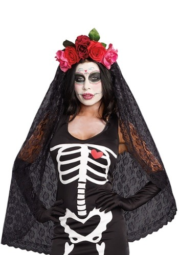 Womens Day of the Dead Headpiece