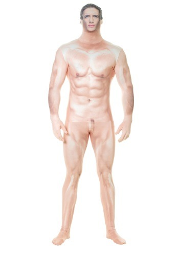 Click Here to buy Naked Sexy Man Faux Real Morphsuit Costume For Adults from HalloweenCostumes, CDN Funds & Shipping
