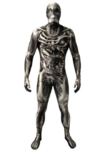 Adult Skull & Bones Skeleton Morphsuit Costume