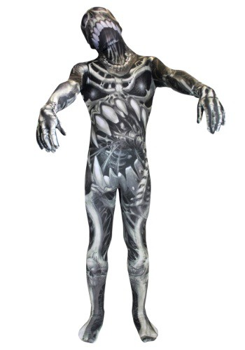 Kids Skull and Bones Skeleton Morphsuit Costume