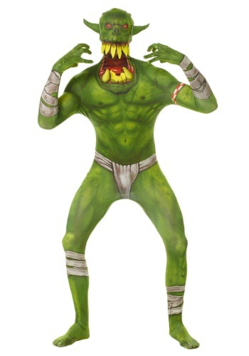 Kids Green Orc Morphsuit Costume