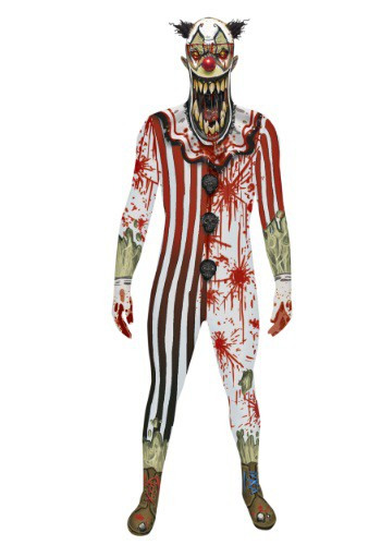 Adult Scary Clown Jaw Dropper Morphsuit Costume
