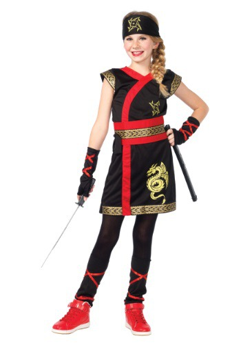 Click Here to buy Girls Ninja Warrior Costume from HalloweenCostumes, CDN Funds & Shipping