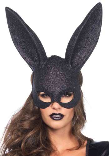 Click Here to buy Black Glitter Bunny Mask from HalloweenCostumes, CDN Funds & Shipping