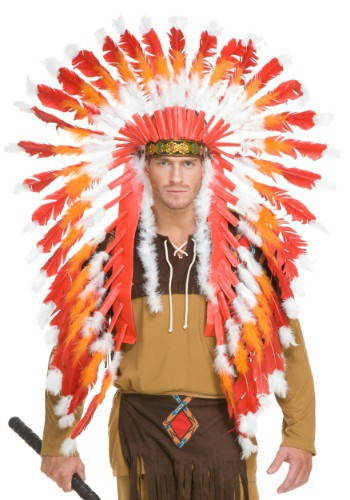 Click Here to buy Adult Native American Chieftain Headdress from HalloweenCostumes, CDN Funds & Shipping