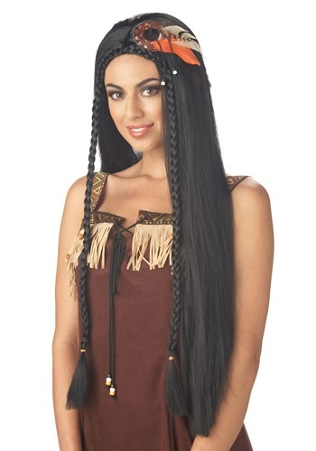 Click Here to buy Womens Native American Princess Wig from HalloweenCostumes, CDN Funds & Shipping