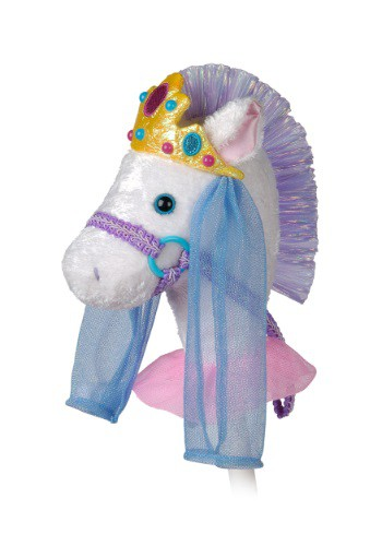 "Fancy Prancer Princess Pony 33"" Horse on a Stick"