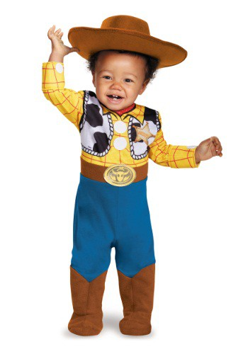Click Here to buy Baby Deluxe Woody Costume from HalloweenCostumes, CDN Funds & Shipping