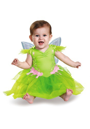 Click Here to buy Tinker Bell Deluxe Baby Costume | Fairy Costumes from HalloweenCostumes, CDN Funds & Shipping